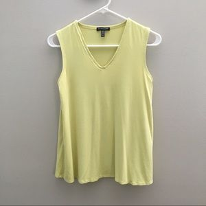 Eileen Fisher Neon Yellow Scoop Neck Tank